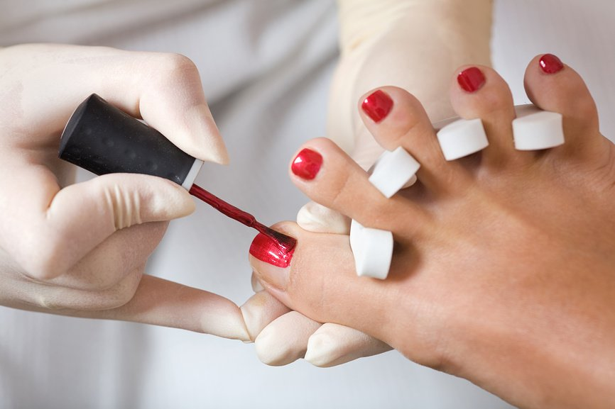 Педикюр пальчики с покрытием гель-лак в домашних условиях