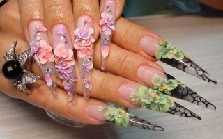 Дизайн ногтей «Акриловая лепка»