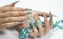 Дизайн ногтей: мозаика с литьем