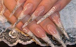 Свадебный дизайн ногтей 2017 года