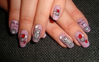 «Тедди» – дизайн ногтей