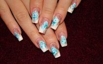 Китайская роспись ногтей акриловыми красками
