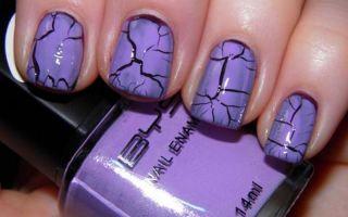 Дизайн ногтей «кракелюр»
