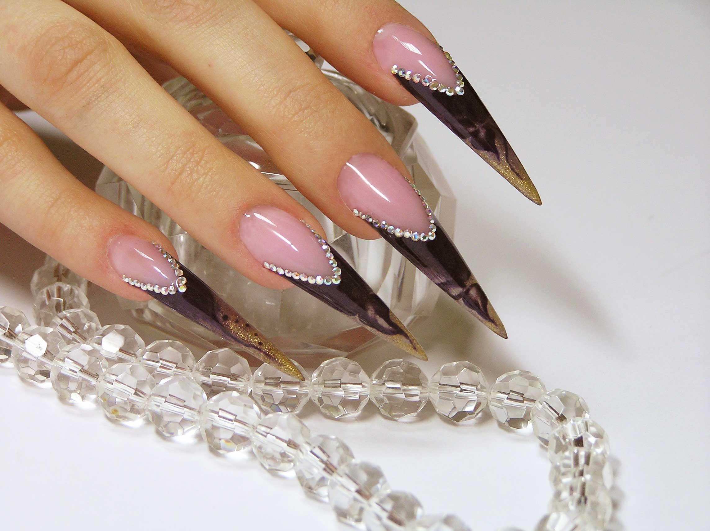 фото ногти стилеты дизайн фото